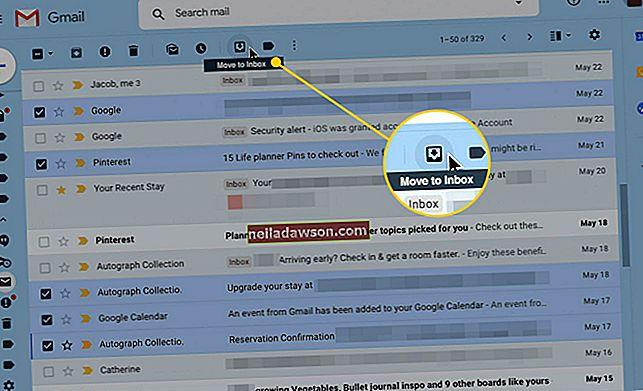 Hogyan lehet archivált leveleket találni a Gmailben