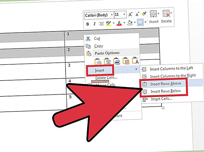Sorok gyors hozzáadása a Microsoft Word táblában