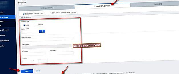 Sådan ændres din postadresse med Bank of America Online