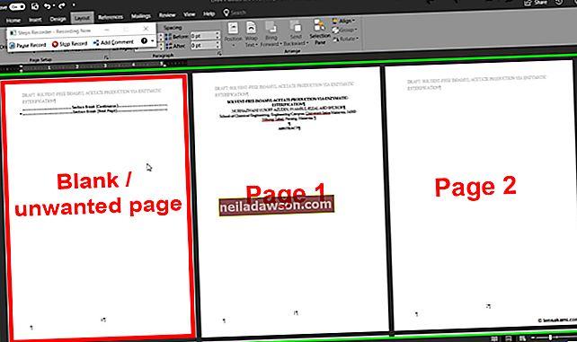 Kā izdzēst lapu MS Word