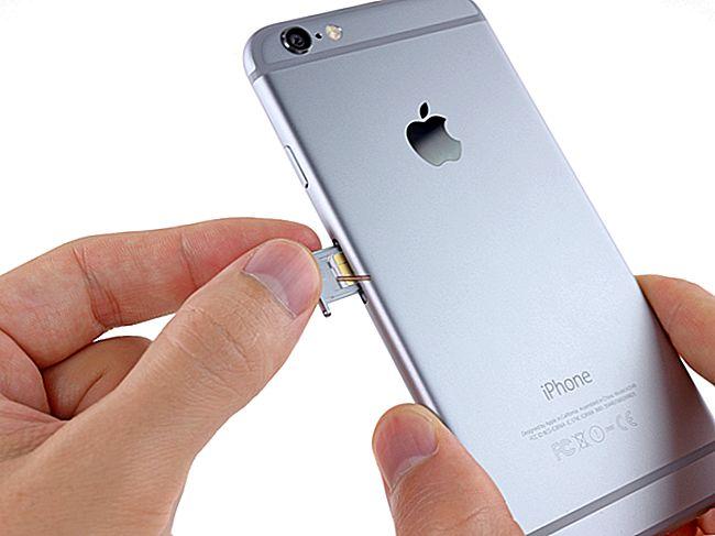 A SIM-kártya megnyitása iPhone 4-en