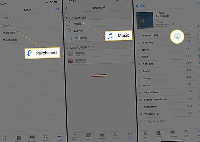 Hogyan tölthet le már iTunesból megvásárolt zenét