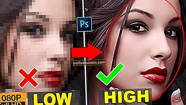 Jak převést na vysoké rozlišení ve Photoshopu