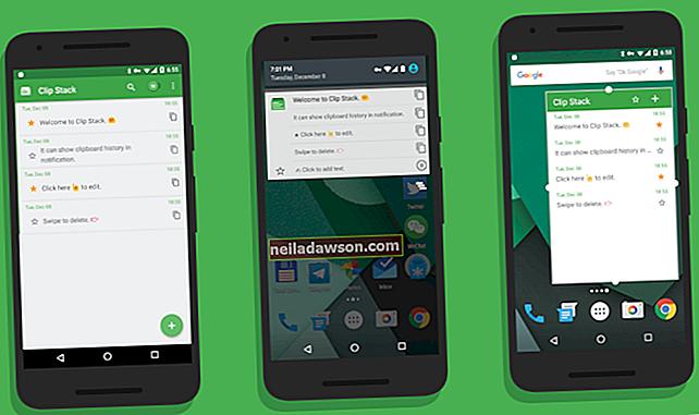 Hogyan lehet elemeket letölteni a vágólapra Androidra